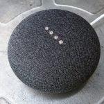 'Google Home Mini' from the web at 'http://ksassets.timeincuk.net/wp/uploads/sites/54/2017/10/Google-Home-Mini_2-150x150.jpg'