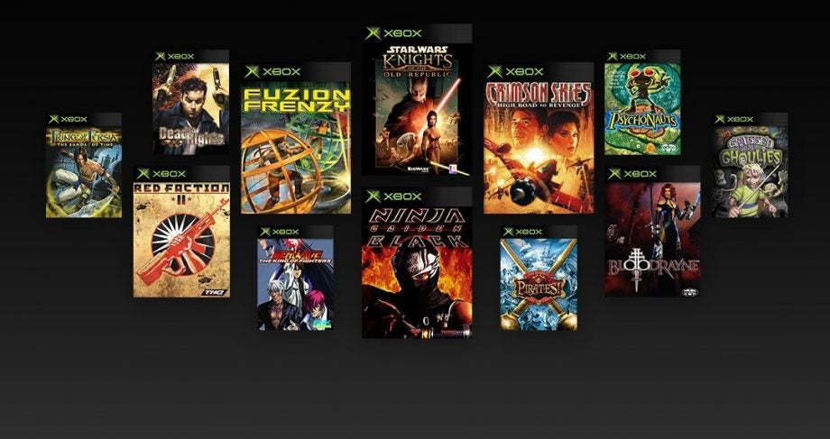Backwards-compatible original Xbox games appear online
