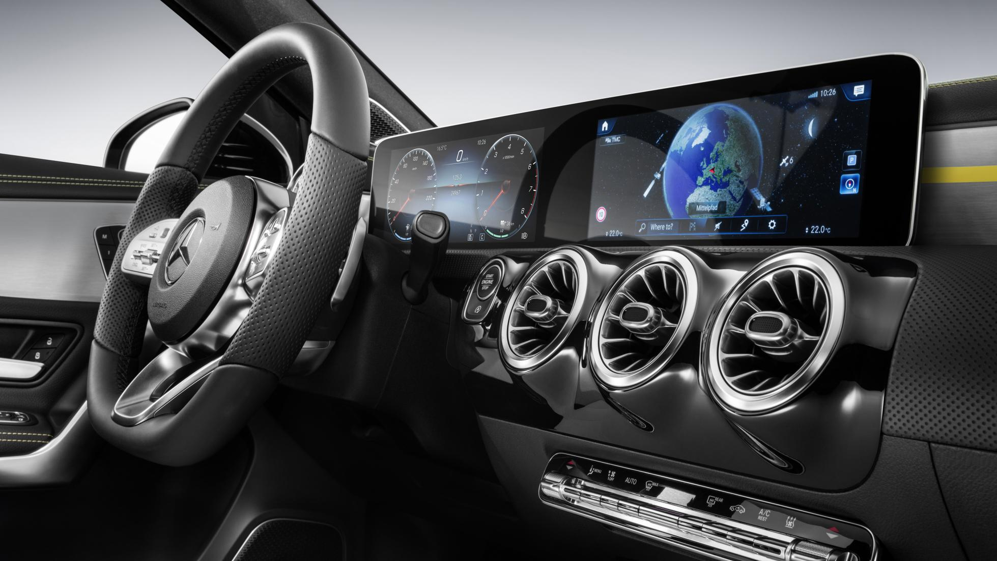 Mercedes New 2018 A Class Has An Interior Stuffed With Tech Luxury