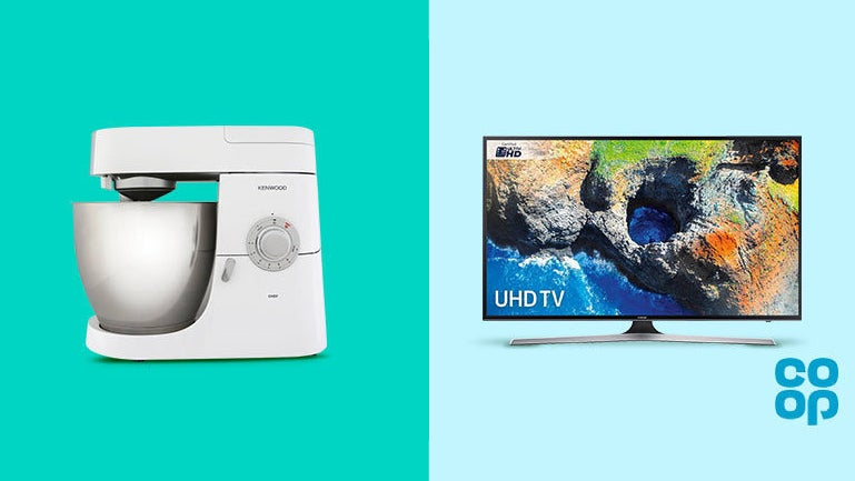Huge savings on Samsung TVs and Kenwood mixers from the Co-op store ...