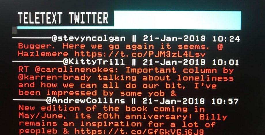 Teletext Twitter