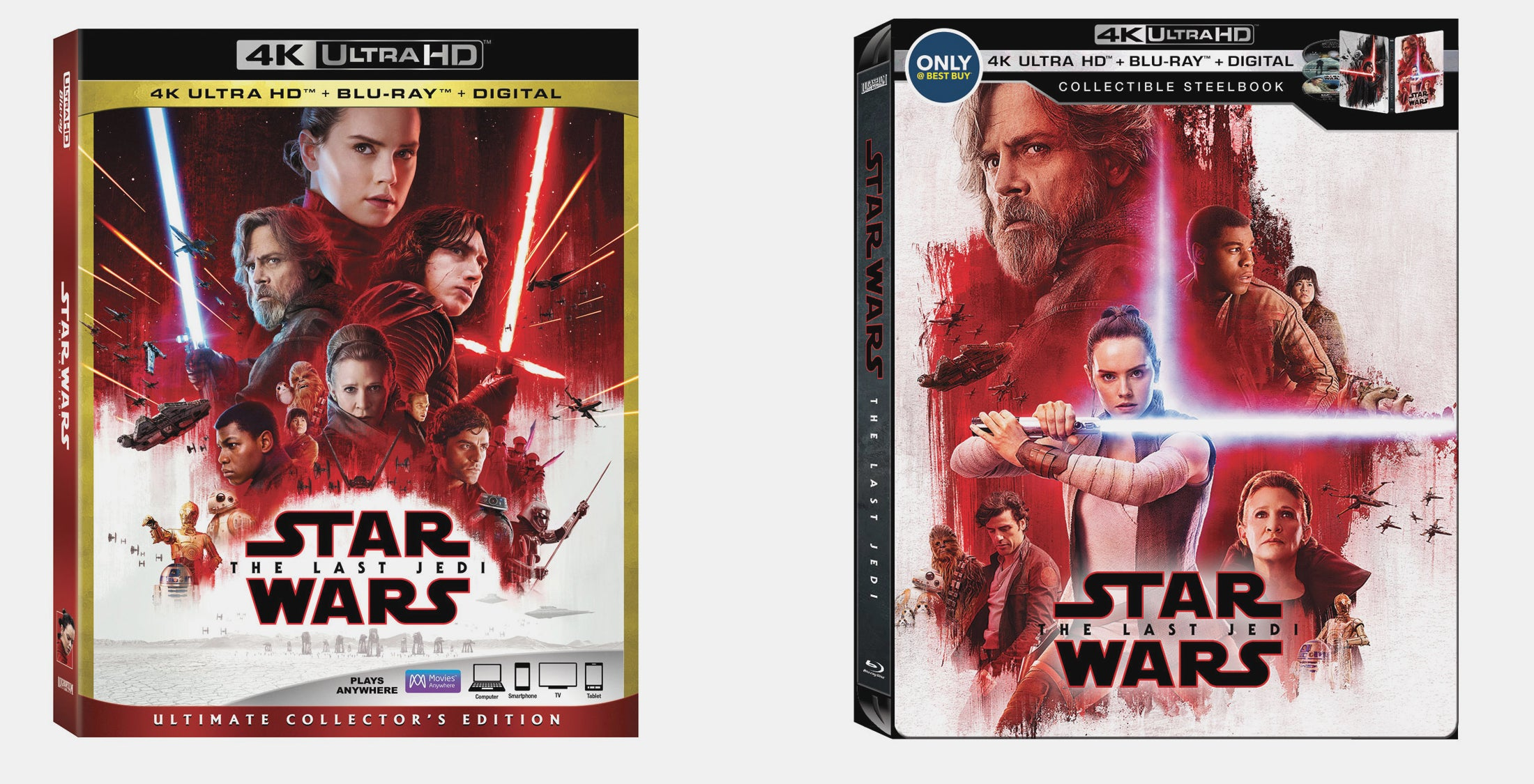 The Last Jedi 4k Blu Ray Release Revealed With A Lot Of