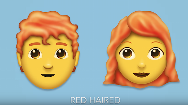 Redheads rejoice as 'gingers' finally feature in 2018's new