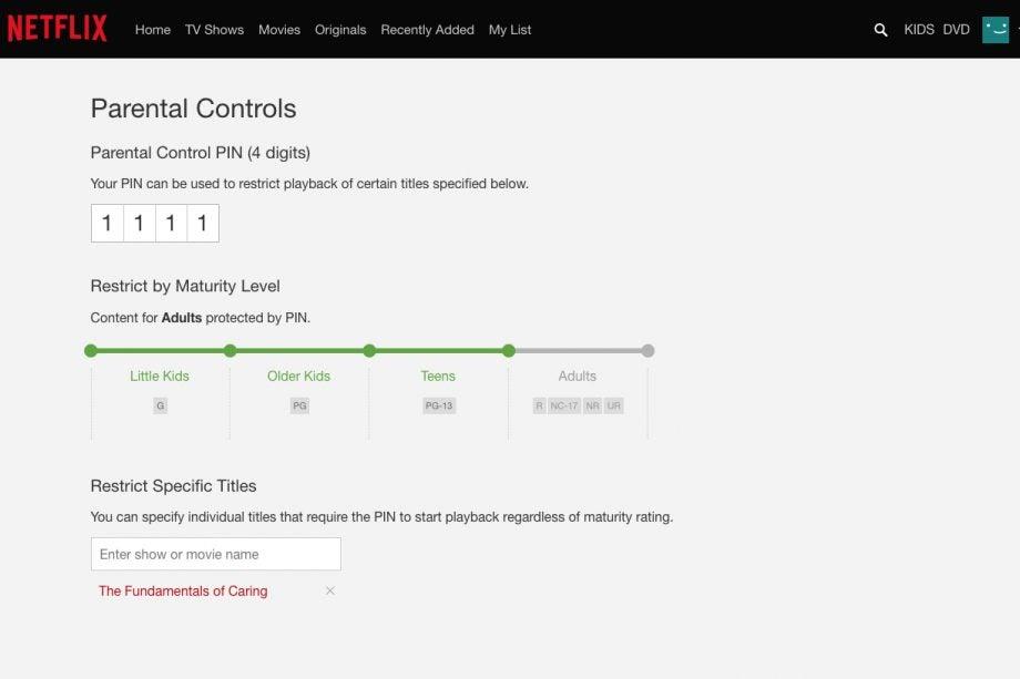 netflixペアレンタルコントロールは特定のショーをブロックする