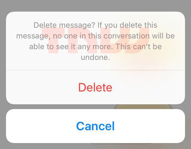 how to cancel a message on facebook