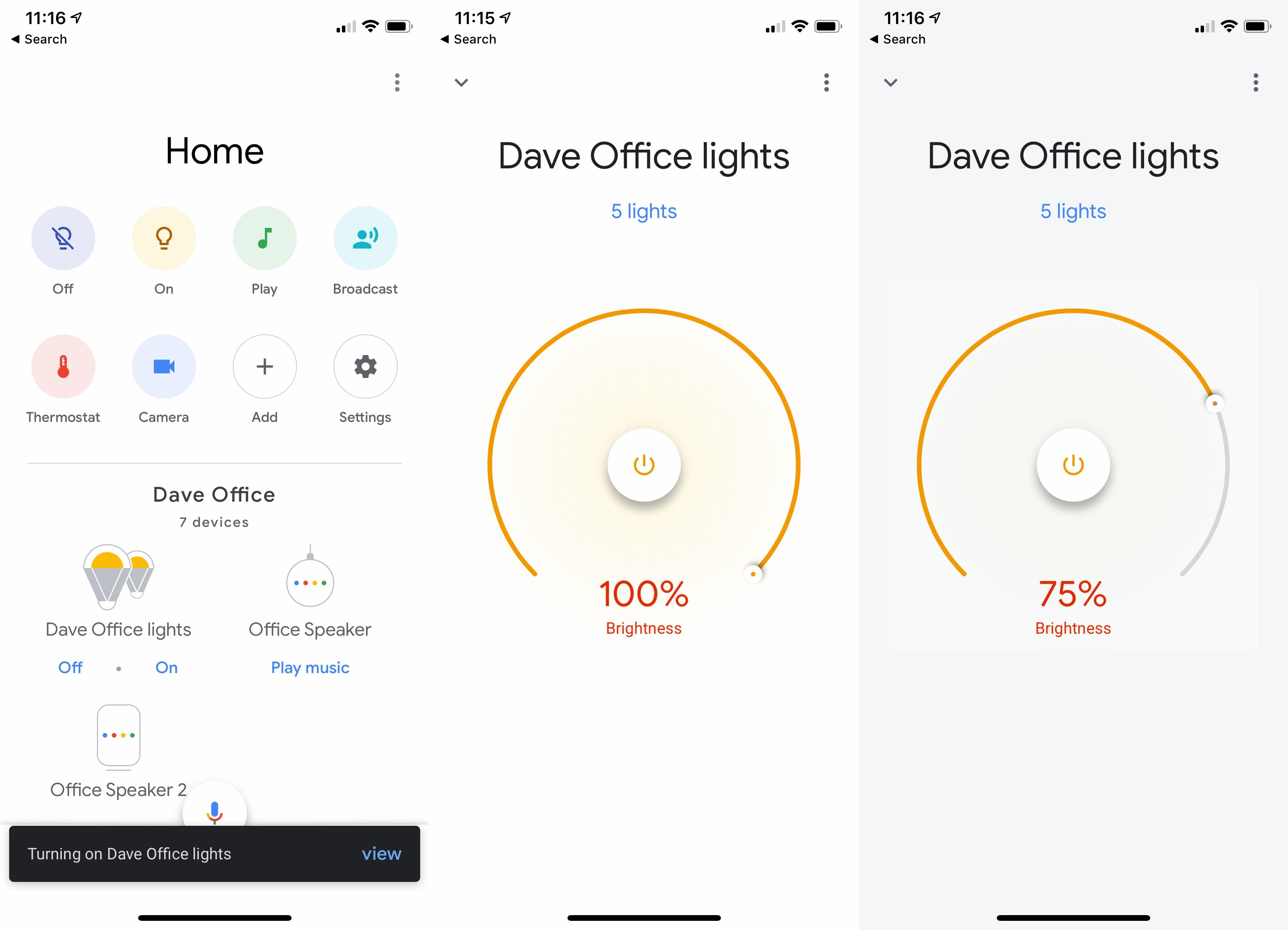 Google Home App smart control