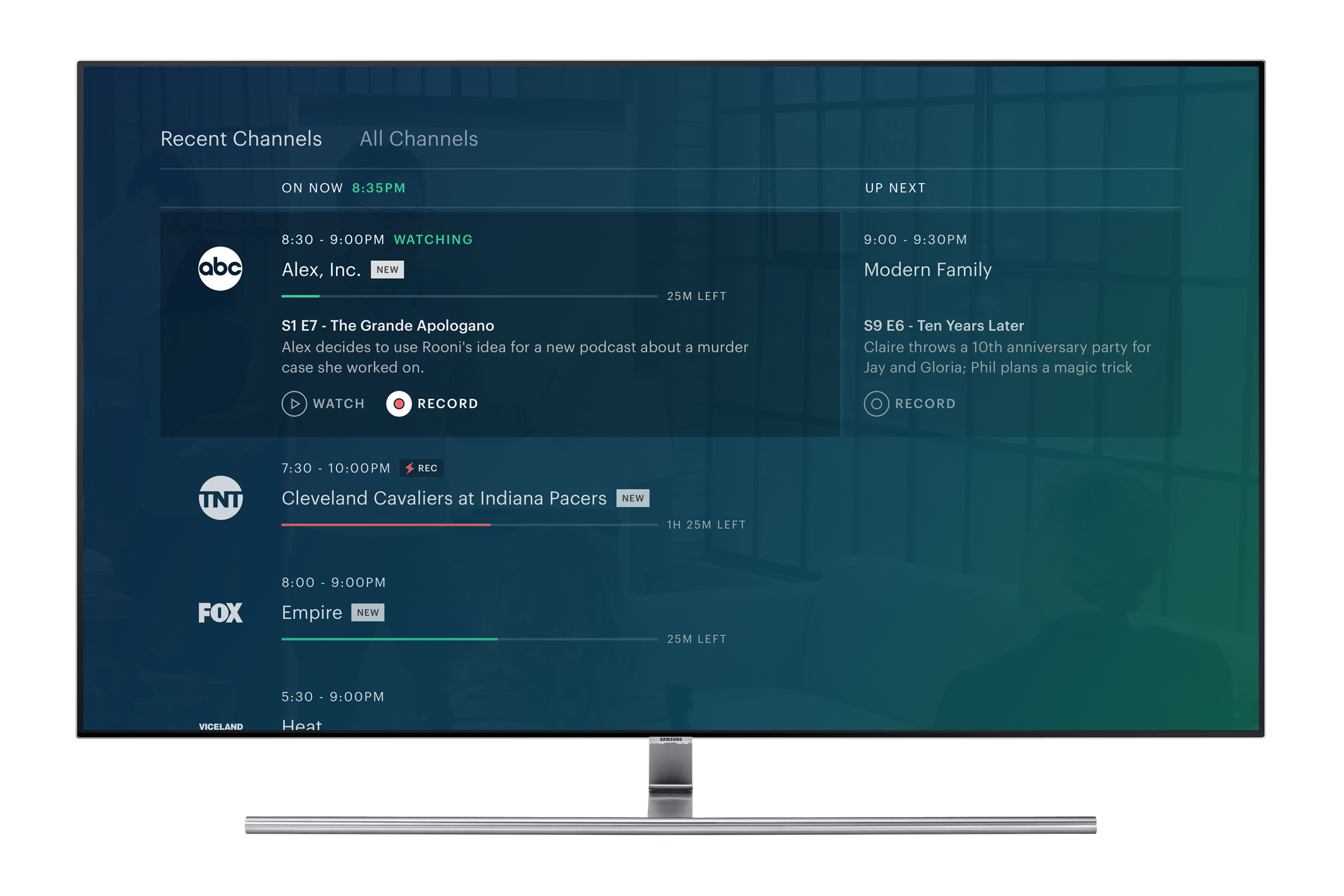 Interestingly, users will be able to view the entire streaming line up or  narrow it down to the last 10 channels they've watched. That should make it  easier ...