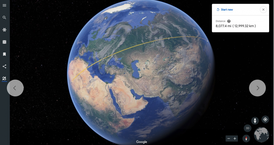 Measure Tool Google Earth Chrome Android