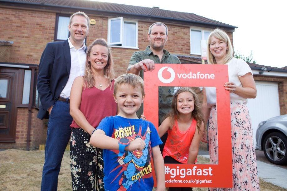 Vodafone Gigafast family in Milton Keynes