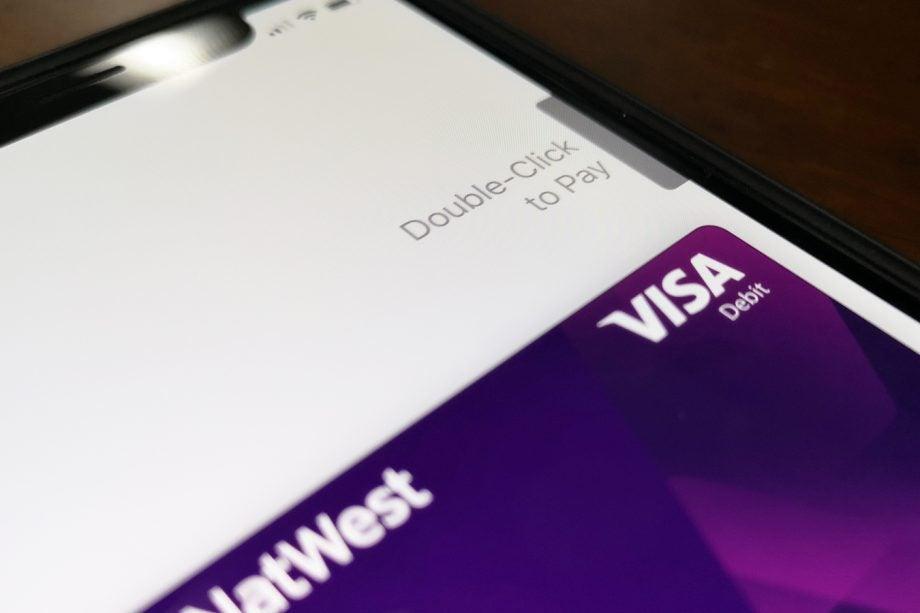 Apple Pay iPhone X screen closeup