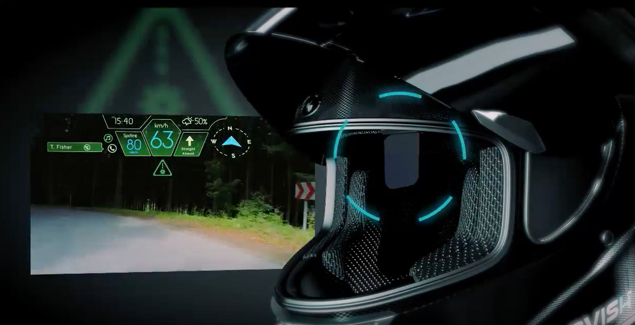 This Alexa Powered Helmet Gives Bikers Eyes In The Back Of