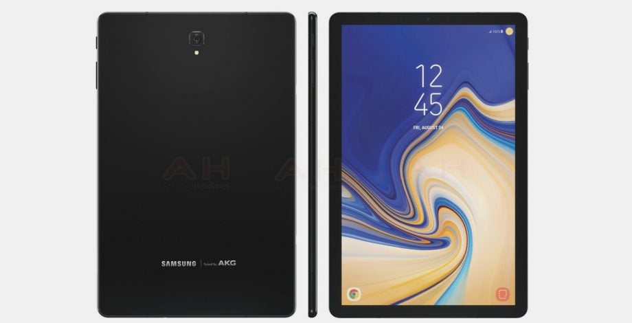 Samsung Galaxy Tab S4 tablet Android fingerprint sensor