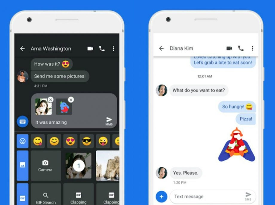 android messages dark theme