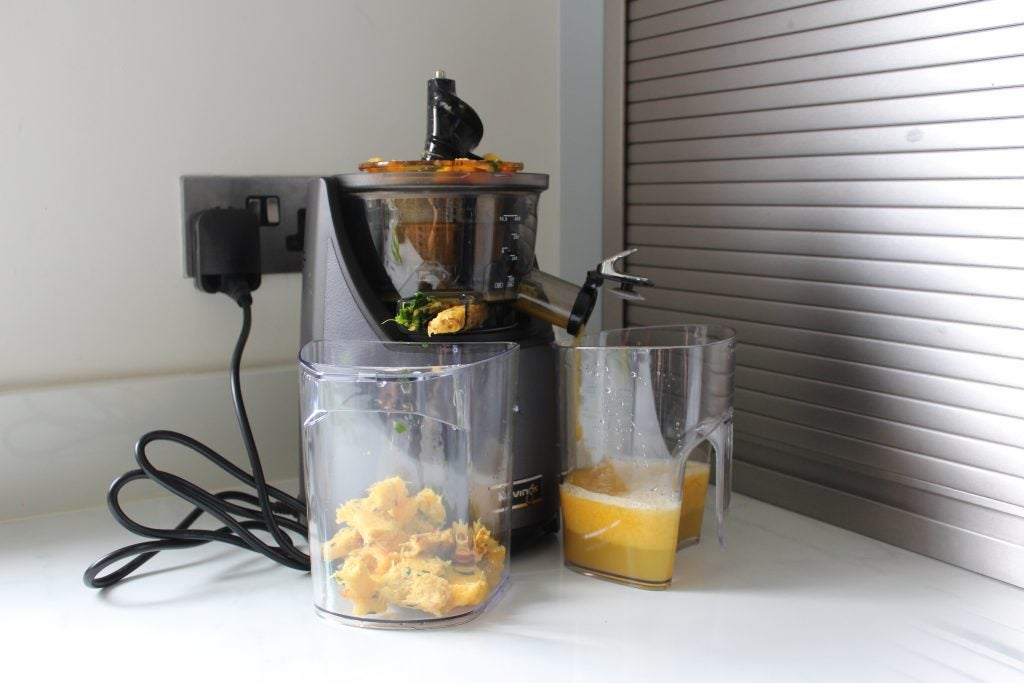 how to use kuving slow juicer to make nut butter