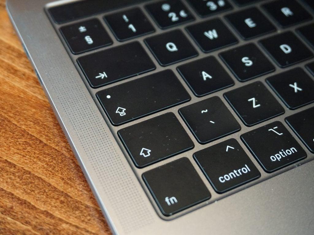 macbook keyboard clicking sound