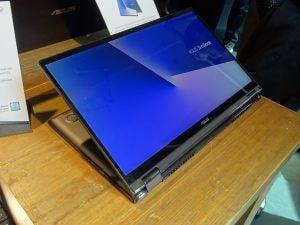 The Asus ZenBook Flip 15 (UX562) in 'display' mode.