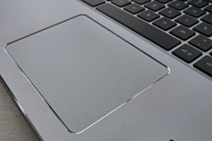 The Acer Chromebook 15 (CB515-1HT)'s trackpad.