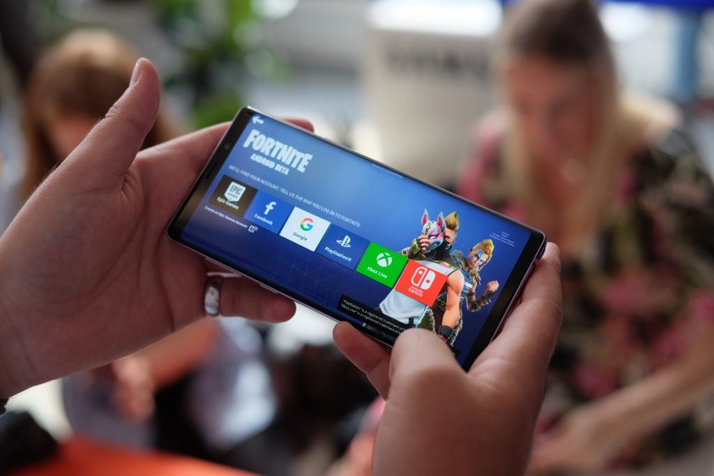 Samsung Galaxy Note 9 fortnite