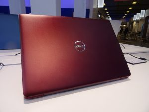 The Dell Inspiron 15 5000 (5580) viewed from the rear.