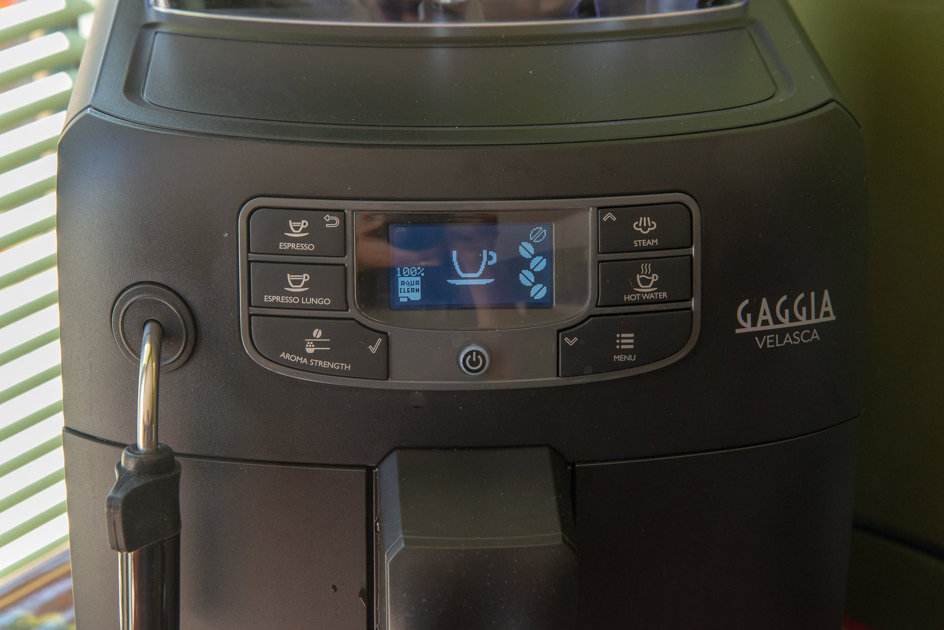 Gaggia Velasca controls