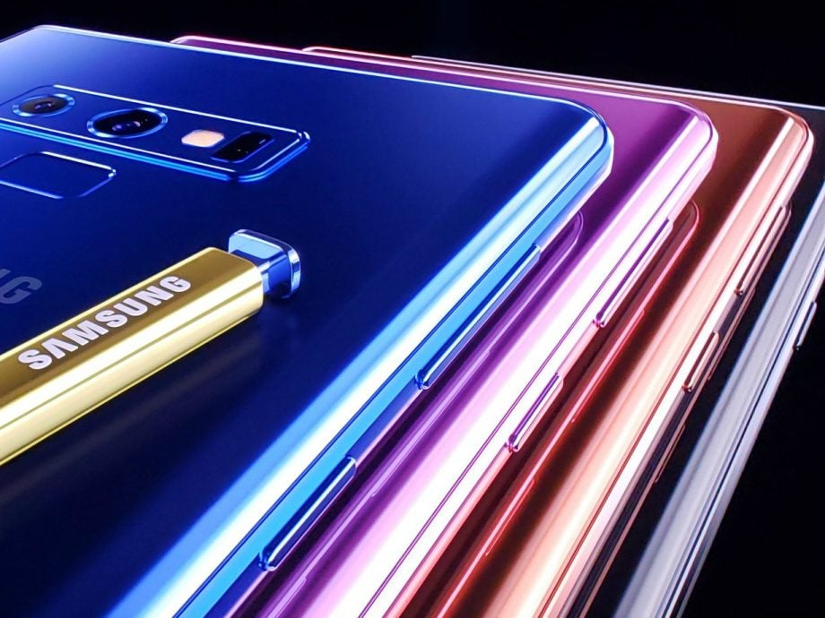 Samsung Galaxy Note 9 in assorted colours