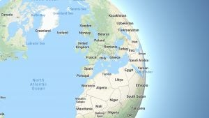 Google Maps globe