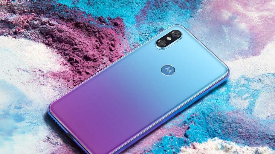 Motorola P30 Chinese model in Aurora purple blue press image