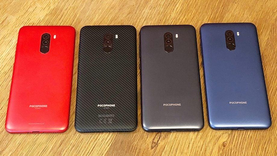Xiaomi Pocophone F1 colours