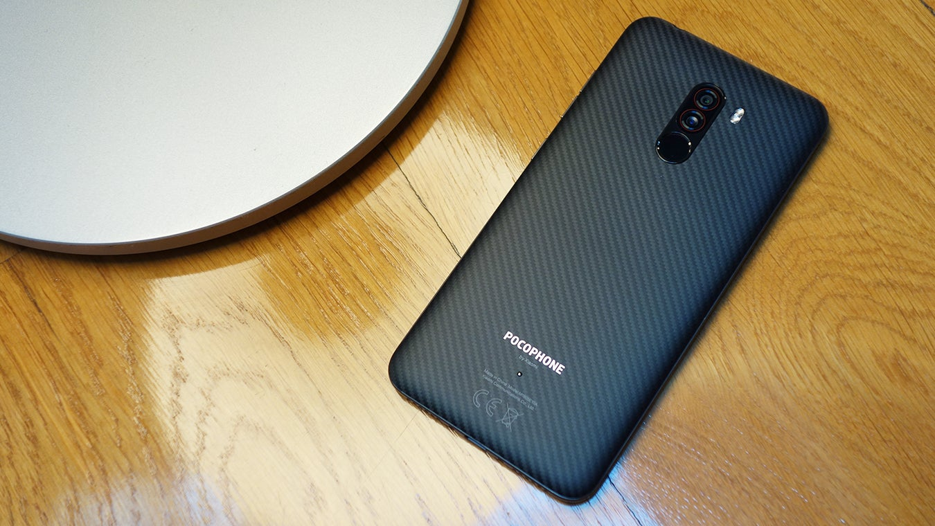 Xiaomi Pocophone F1 top down by lamp