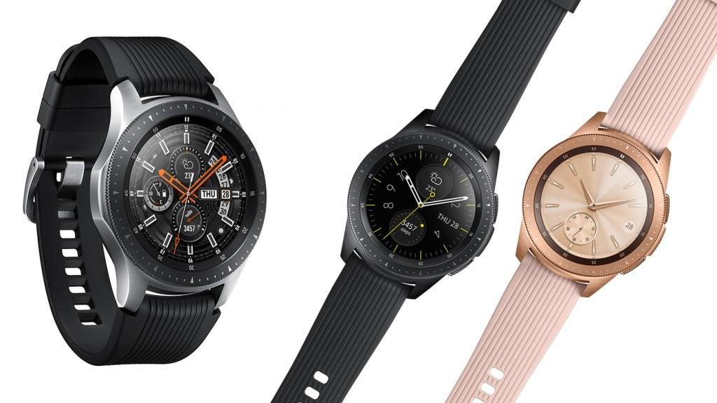 Samsung Galaxy Watch colourways press image edit