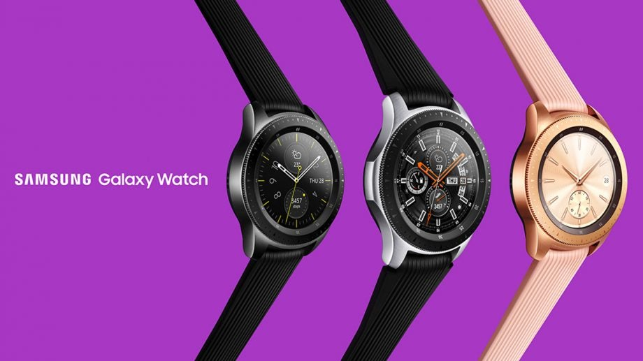 Samsung Galaxy Watch finishes press image