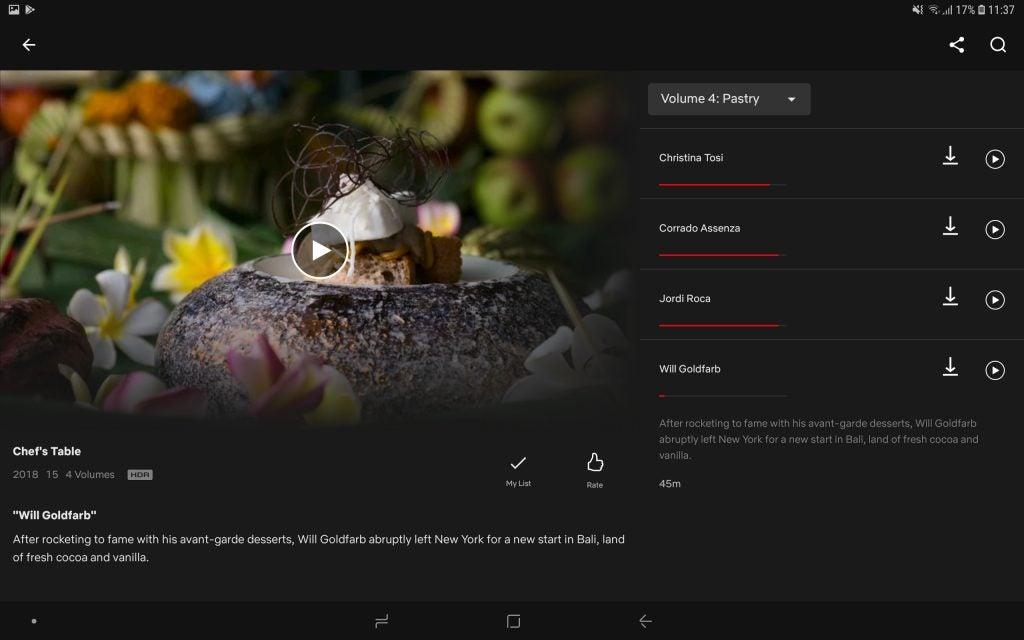 Tab S4 Netflix HDR