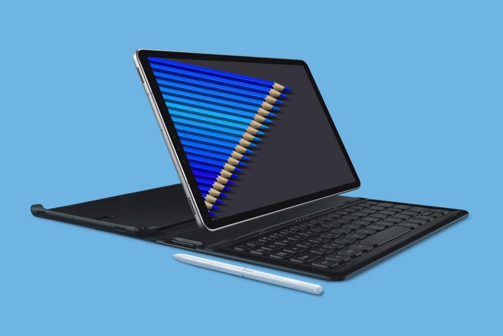 Samsung Galaxy Tab S4 press image blue