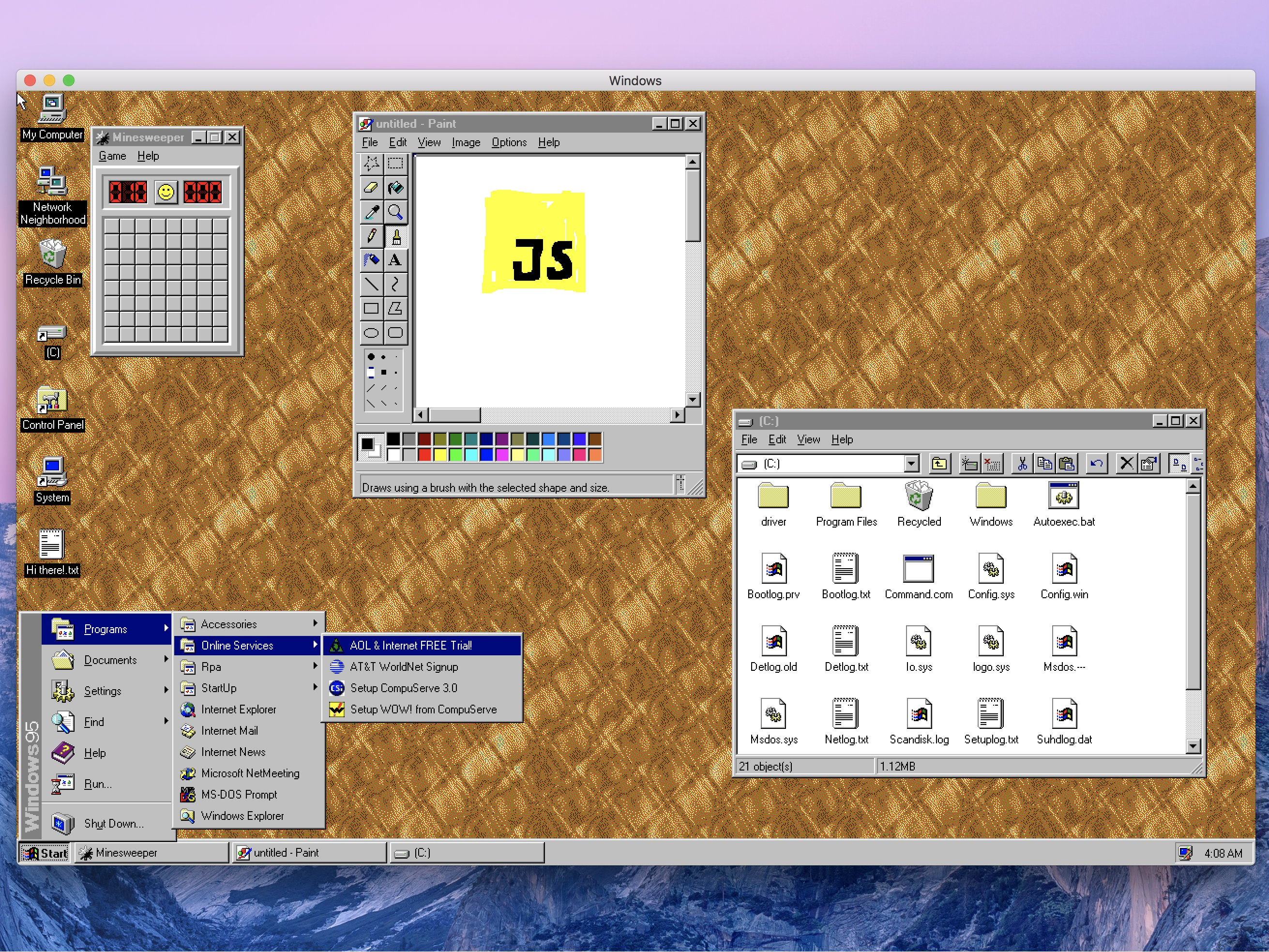 Finally: Windows 95 released for macOS, Linux and Windows 10