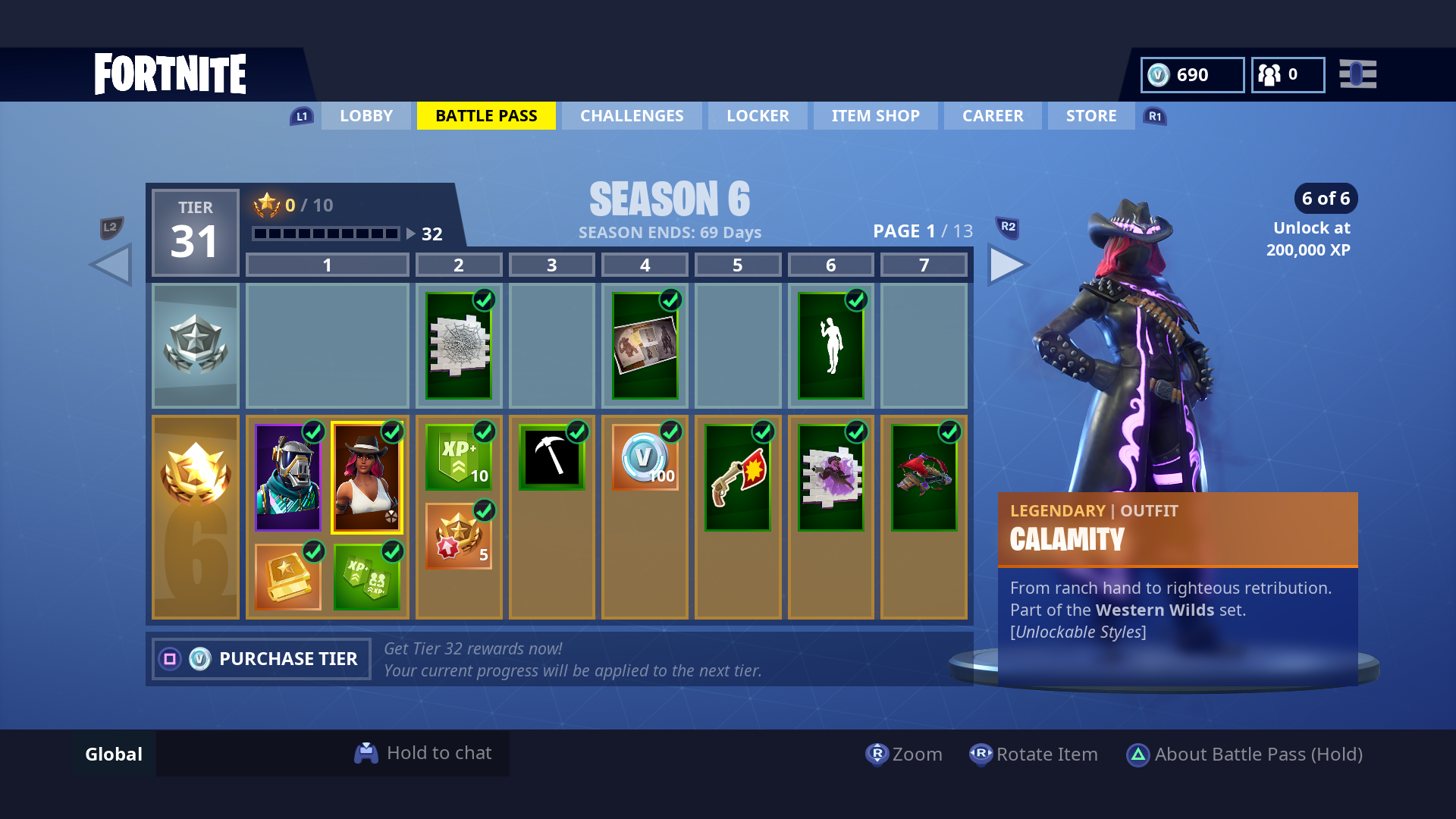 Fortnite Season 6 Guide How To Unlock The Calamity And Dire Skins