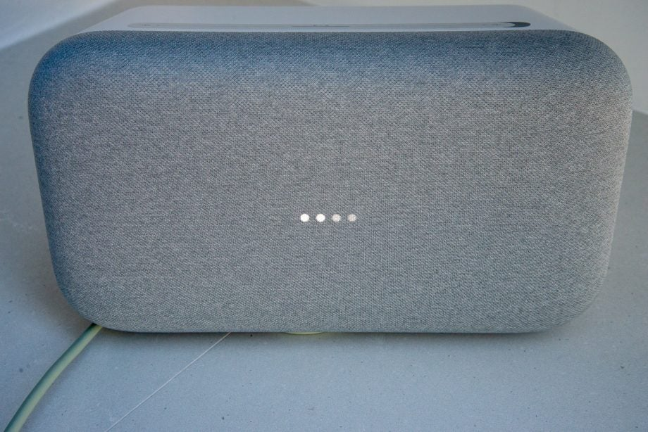 Google Home Max lights