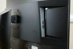Close-up of the Viewsonic XG3240C's USB ports