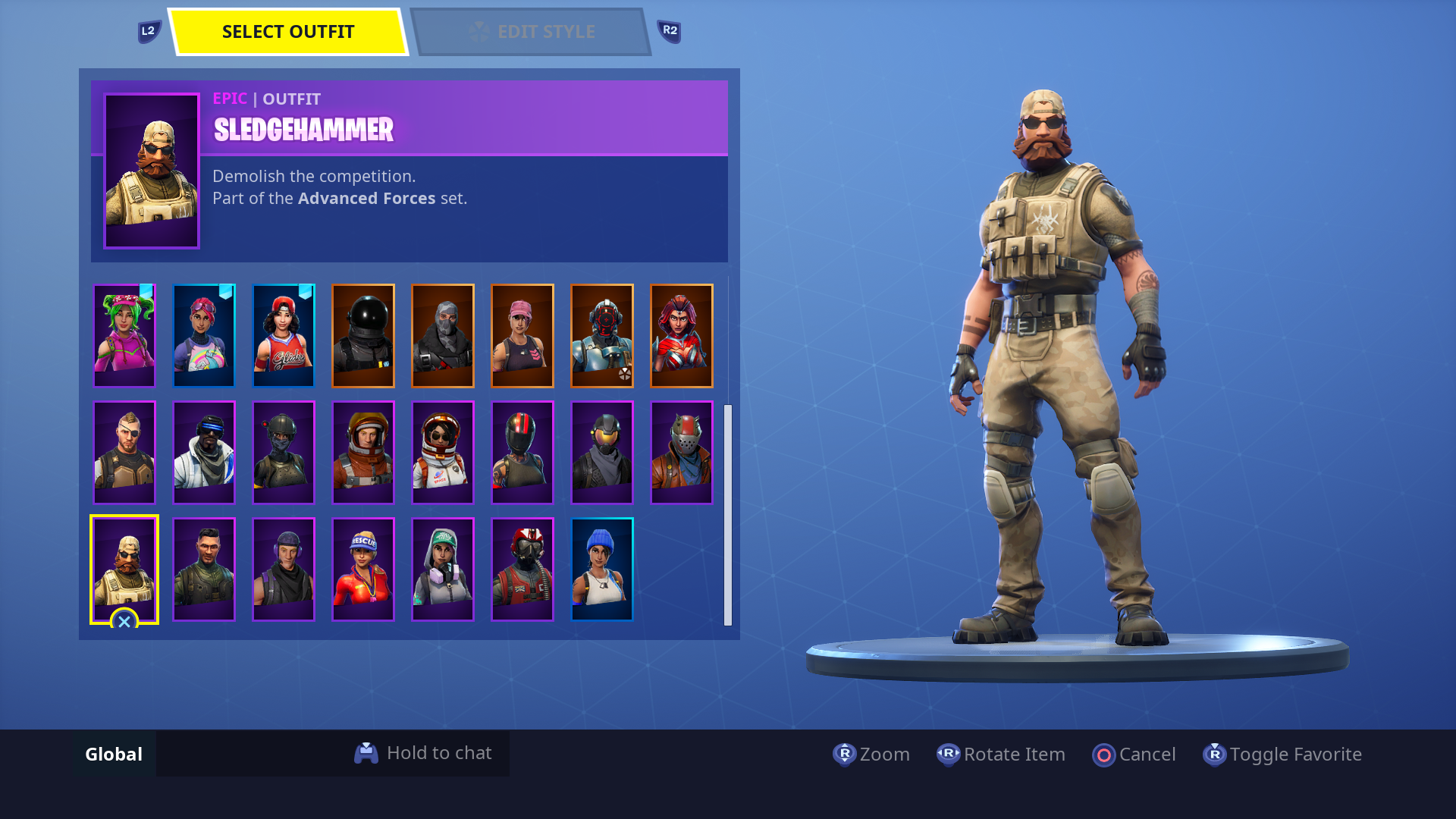 as you can probably guess this is where the big jump in distance between skins happens so long as you keep up with all your weekly and daily challenges - sledgehammer skin fortnite
