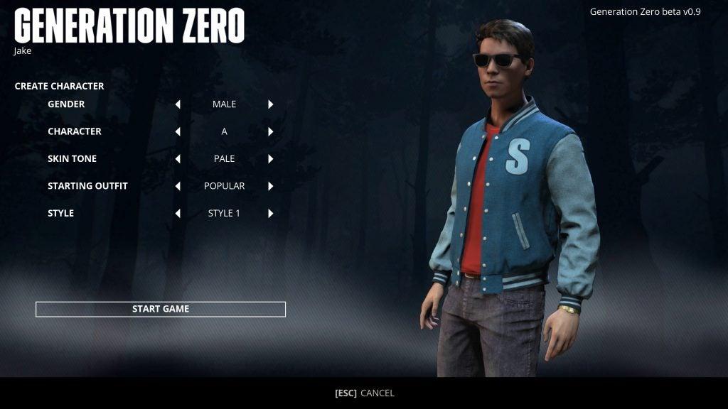 generation zero beta how to save