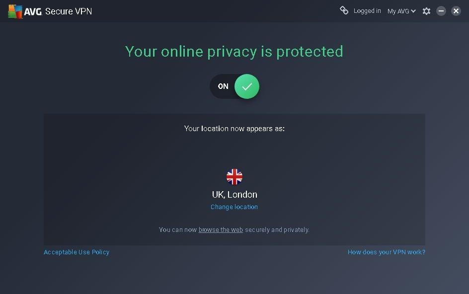 avg secure vpn android key