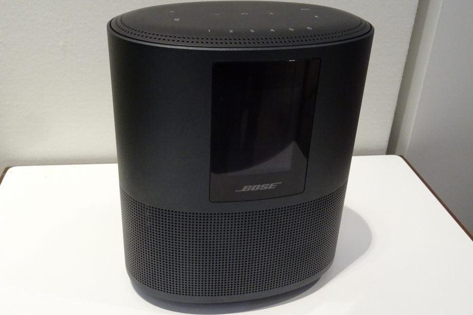A front view of the black Bose Home Speaker 500.