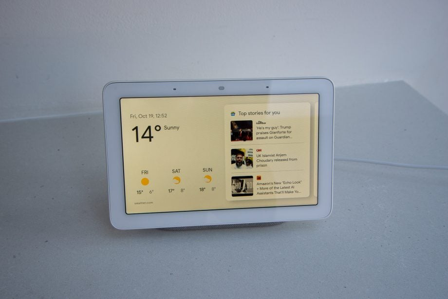 Google Home Hub home screen