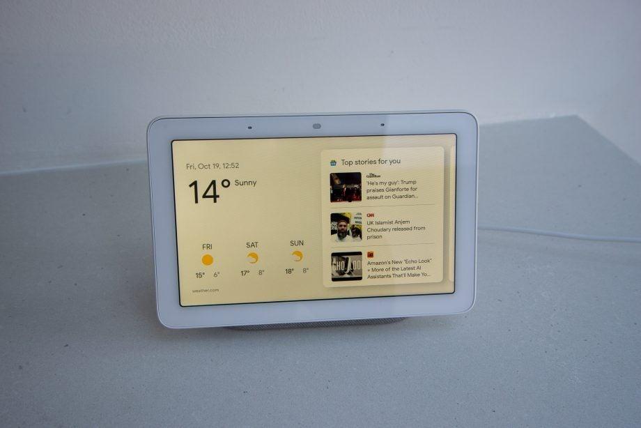Google Home Hub home screen