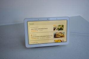 Google Home Hub recipes