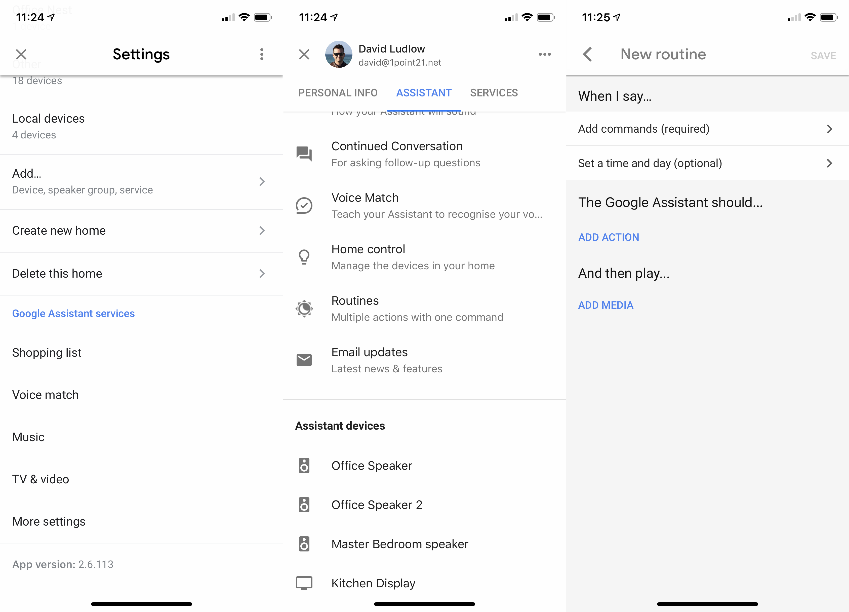 Google Home Routines step 2