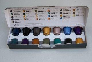 Sage Nespresso Creatista Uno capsule selection