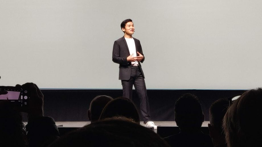 Pete Lau on stage at the OnePlus 6T launch