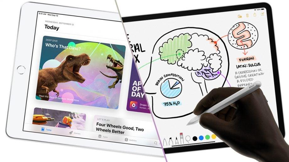 iPad vs 2018 iPad Pro with Apple Pencil 2