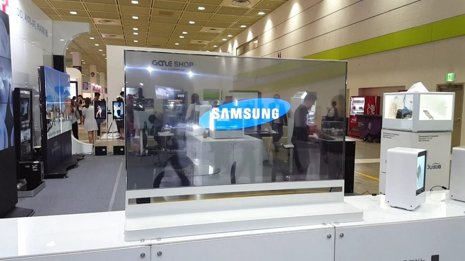 Samsung TV transparent