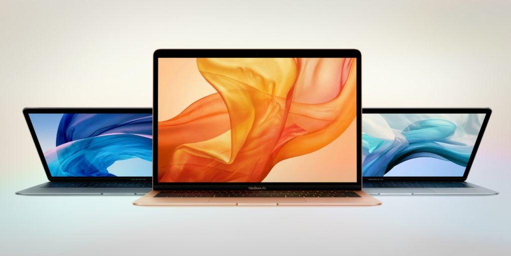 new MacBook-Air-2018 colours